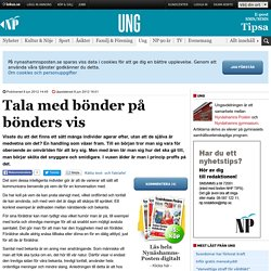 Tala med bönder på bönders vis - Ung - nynashamnsposten.se