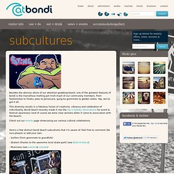 bondi culture and subcultures