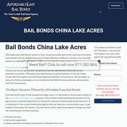 Bail Bonds China Lake Acres