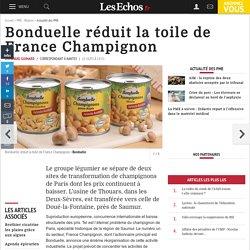 Bonduelle réduit la toile de France Champignon, Actualité des PME