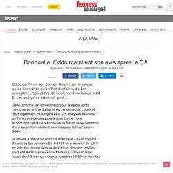 Bonduelle: Oddo maintient son avis après le CA.