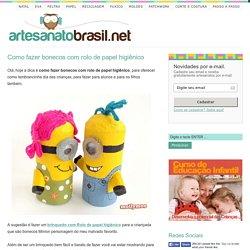 Como fazer bonecos com rolo de papel higiênico – Artesanato Brasil