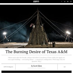 Texas A&M Bonfire still burns fifteen years after collapse kills 12 students