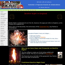 Bonfire Night traditions in England - Guy Fawkes Night