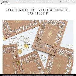 DIY Carte de voeux Porte-Bonheur
