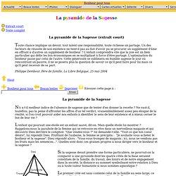 La pyramide de la Sagesse