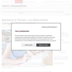 Bonheur à l'école : un laboratoire s'empare de la question