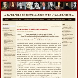 φ Cafés-Philo De Chevilly-Larue et De l'Haÿ-Les-Roses φ