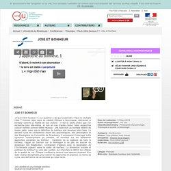 Joie et bonheur - Université de Strasbourg