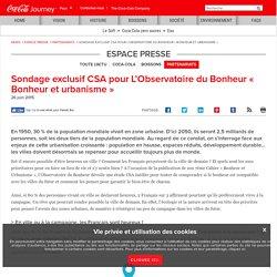 Bonheur et Urbanisme : Sondage exclusive CSA