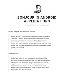 Bonjour in Android applications