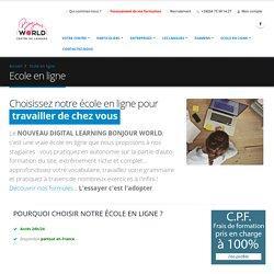 BONJOUR WORLD - Ecole en ligne !