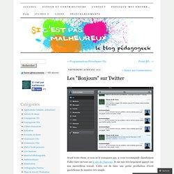 """Les """"Bonjours"""" sur Twitter"""