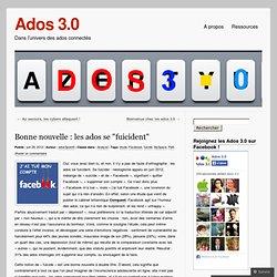 """Bonne nouvelle : les ados se """"fuicident"""" « Ados 3.0"""