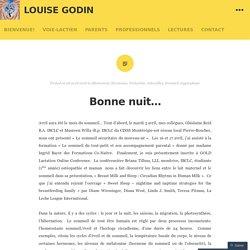 Bonne nuit… – Louise Godin