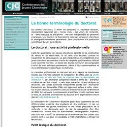 CJC - La bonne terminologie du doctorat