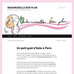 Mes bonnes adresses italiennes à Paris