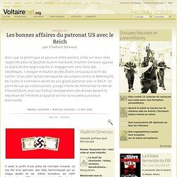 Les bonnes affaires du patronat US avec le Reich