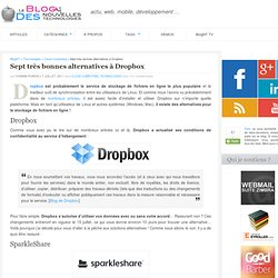 Sept très bonnes alternatives à Dropbox