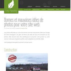 Bonnes et mauvaises idées de photos pour votre site web