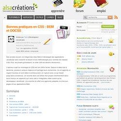Bonnes pratiques en CSS : BEM et OOCSS