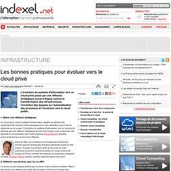 Les bonnes pratiques pour évoluer vers le cloud privé