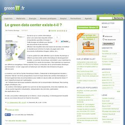 Datat center - Le green data center existe-t-il ?