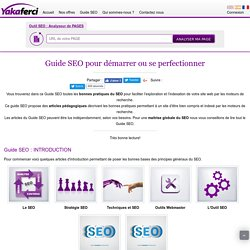 Guide SEO de bonnes pratiques du référencement