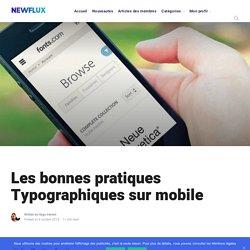 Les bonnes pratiques de typographie sur mobile