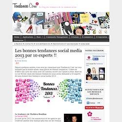 Les bonnes tendances social media 2013 par 10 experts !