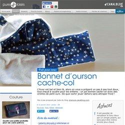 Bonnet d'ourson cache-col