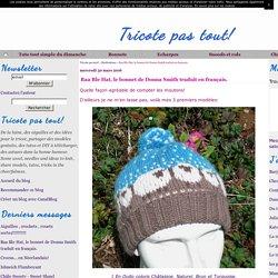 Baa Ble Hat, le bonnet de Donna Smith traduit en français.
