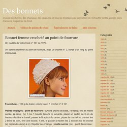 Bonnet femme crocheté au point de fourrure