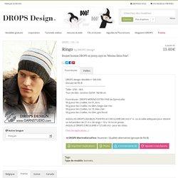 """Ringo - Bonnet homme DROPS en jersey rayé en """"Merino Extra Fine"""". - Free pattern by DROPS Design"""