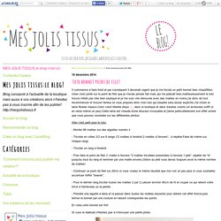 Tuto bonnet point de filet - Mes jolis tissus:le blog!