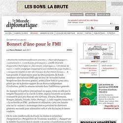 Bonnet d'âne pour le FMI, par Pierre Rimbert
