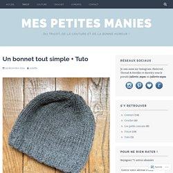 Un bonnet tout simple + Tuto – Mes petites manies