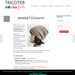 Bonnet slouchy