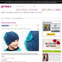 Bonnet turquoise enfant