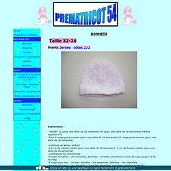 Bonnets prématuré