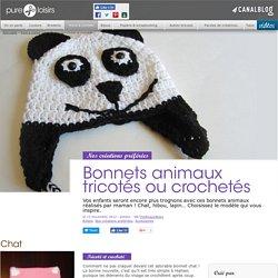 Bonnets animaux tricotés ou crochetés