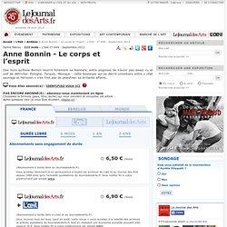 Anne Bonnin - Le corps et l'esprit - L'Oeil - n° 649 - Septembre 2012