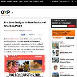 Pro Bono Designs for Non-Profits and Charities, Part 2 | Onextrapixel - Web Design & Development Magazine