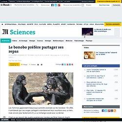 Le bonobo préfère partager ses repas