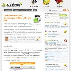 Les bons outils pour commencer à intégrer votre site web