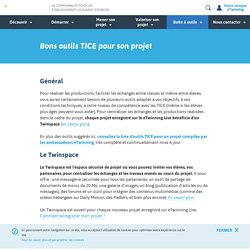 Bons outils TICE pour son projet - www.etwinning.fr