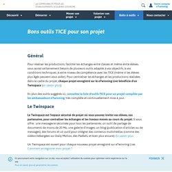 Bons outils TICE pour son projet- www.etwinning.fr