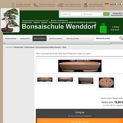 Pot à bonsaï 44.5x32.5x8.5cm Premium ovale en grès