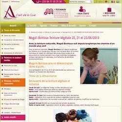 Magali Bontoux Teinture Végétale 20, 21 et 22/06/2013