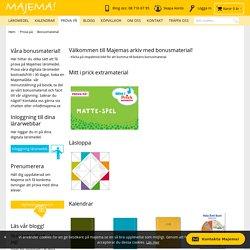 Bonusmaterial - Prova på Majema - köp läromedel och kalendrar för lärare online